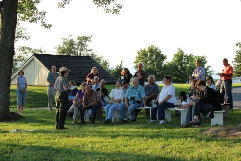 Ranger Shannon Moeck captivates vistiors at Cedar Creek & Belle Grove National Historical Park